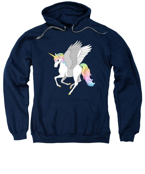 Pretty Rainbow Unicorn Flying Horse Sweatshirt