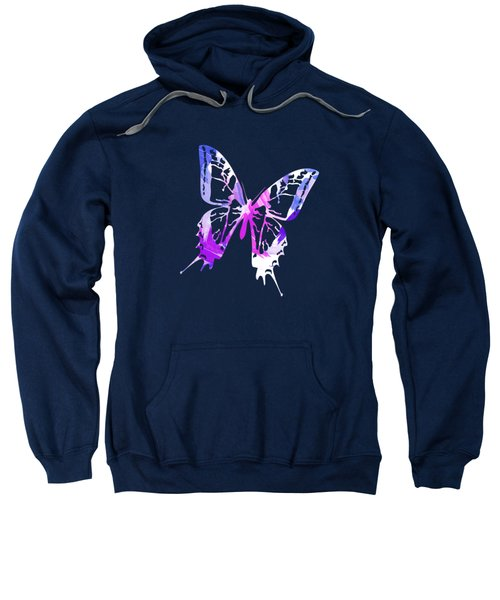 Purple Abstract Paint Pattern Sweatshirt