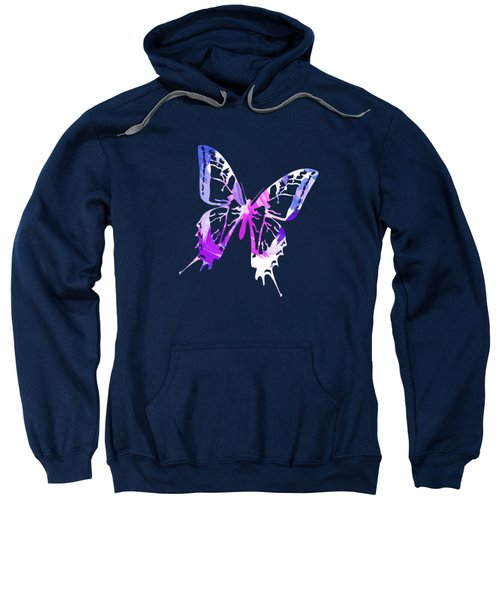 Purple Abstract Paint Pattern Sweatshirt