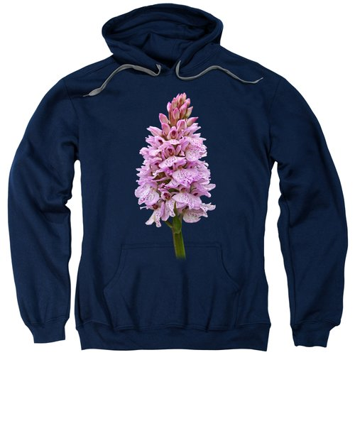 Radiant Wild Pink Spotted Orchid Sweatshirt by Gill Billington