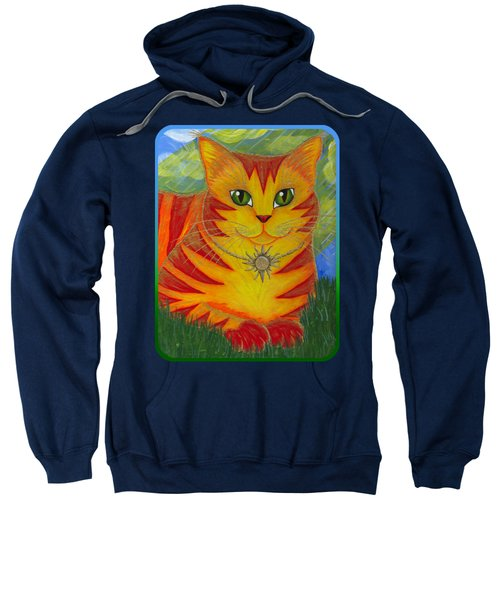 Rajah Golden Sun Cat Sweatshirt