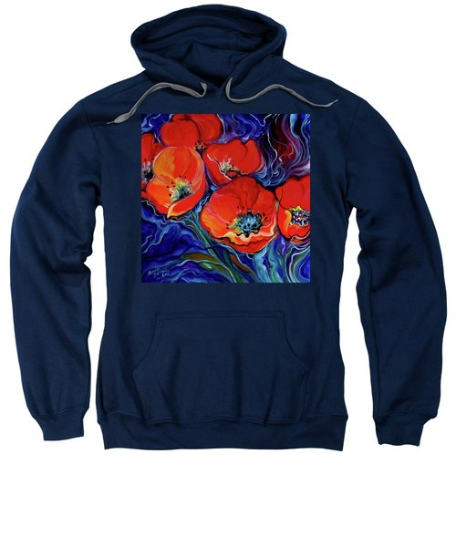 Red Floral Abstract Sweatshirt