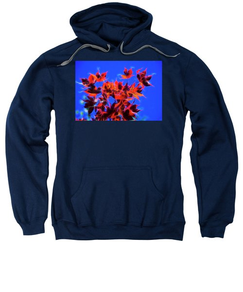 Sweatshirt featuring the photograph Red Maple Leaves by Yulia Kazansky