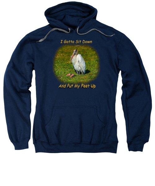 Resting Woodstork Sweatshirt