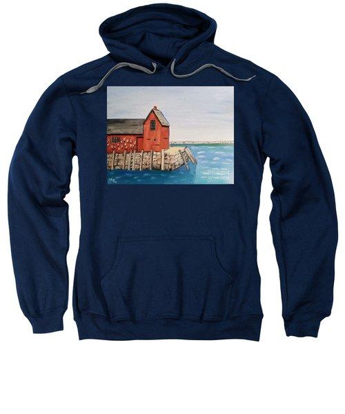 Rockport Motif In Winter Sweatshirt