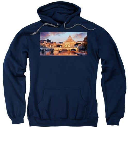 Rome The Eternal City - Saint Peter From The Tiber Sweatshirt