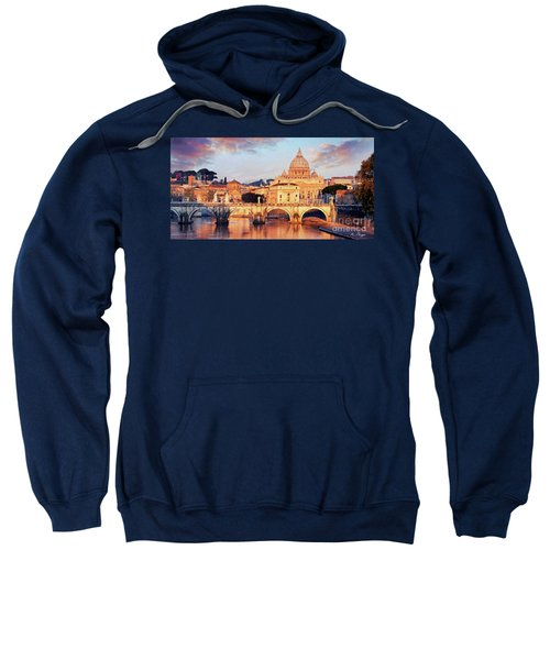 Rome The Eternal City - Saint Peter From The Tiber Sweatshirt
