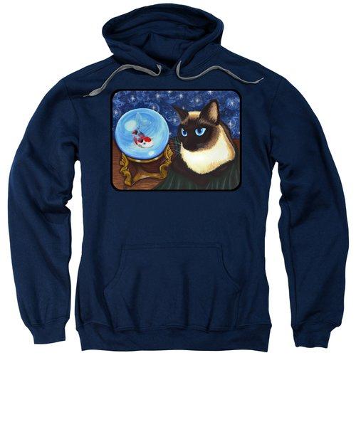 Rue Rue's Fortune - Siamese Cat Koi Sweatshirt