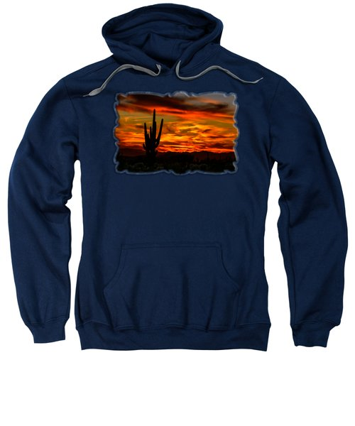 Saguaro Sunset H51 Sweatshirt by Mark Myhaver