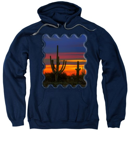 Saguaro Sunset V30 Sweatshirt by Mark Myhaver