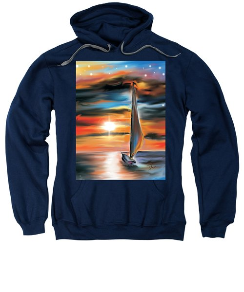 Sailboat And Sunset Sweatshirt