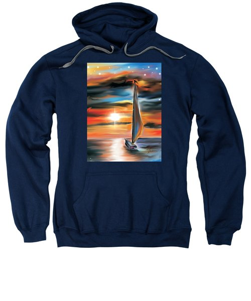 Sailboat And Sunset Sweatshirt