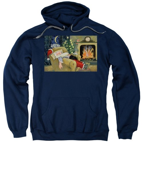 Santa Sleeping By The Fire Sweatshirt