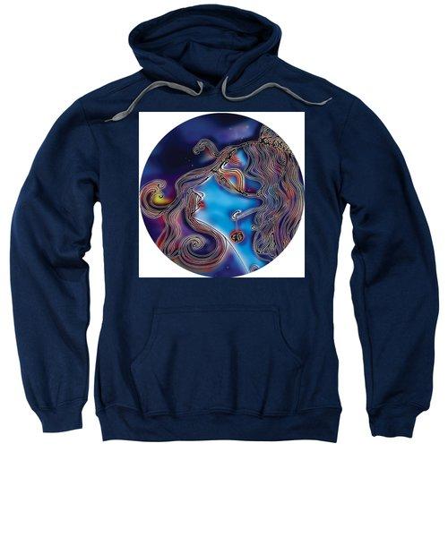 Sweatshirt featuring the painting Shiva  by Guruji Aruneshvar Paris Art Curator Katrin Suter