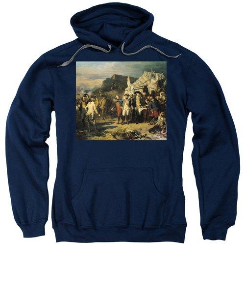 Siege Of Yorktown Sweatshirt by Louis Charles Auguste  Couder
