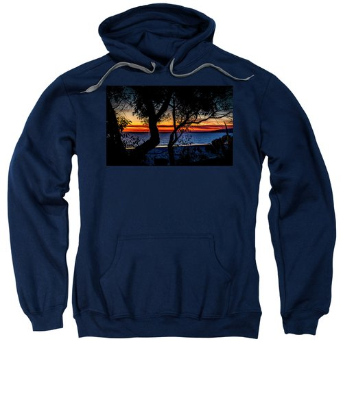 Silhouettes Over Blue Water Sweatshirt