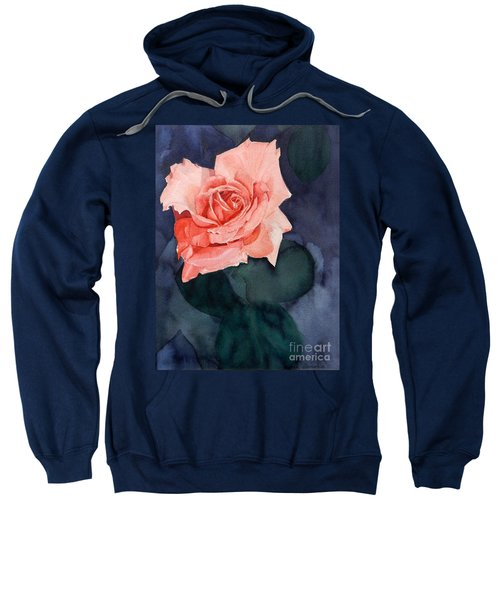Watercolor Of A Magic Bright Single Red Rose Sweatshirt