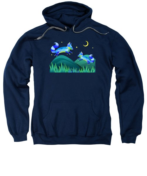 Starlit Foxes Sweatshirt by Little Bunny Sunshine