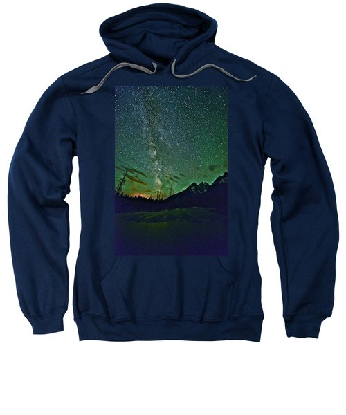 Starry Night Over The Tetons Sweatshirt