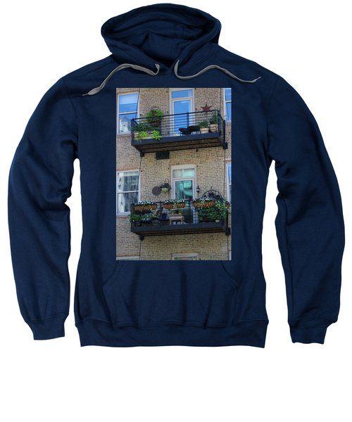 Summer Balconies In Chicago Illinois Sweatshirt