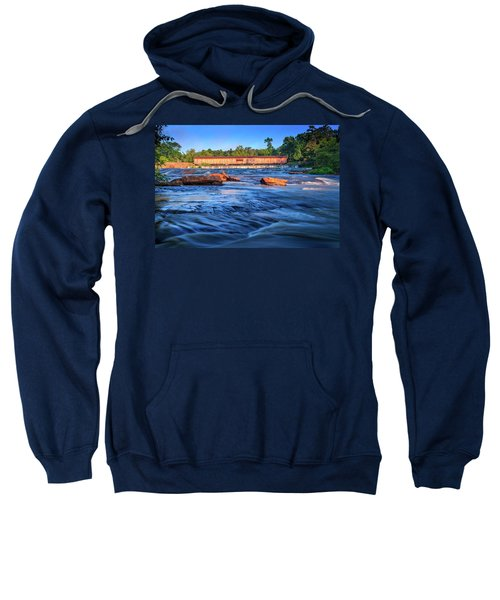 Sunrise On Watson Mill Bridge Sweatshirt