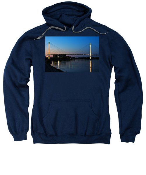 Sunset On The Bob Kerry Pedestrian Bridge Sweatshirt