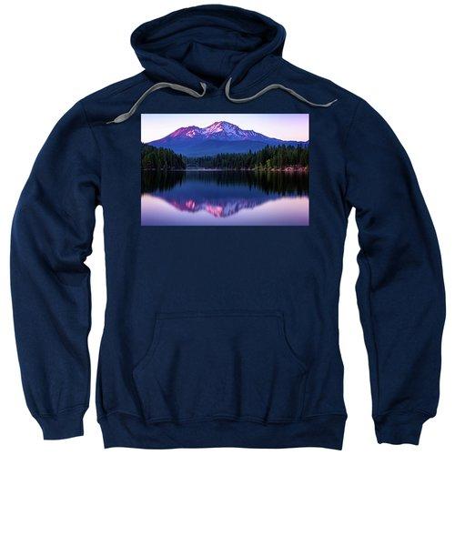Sunset Reflection On Lake Siskiyou Of Mount Shasta Sweatshirt