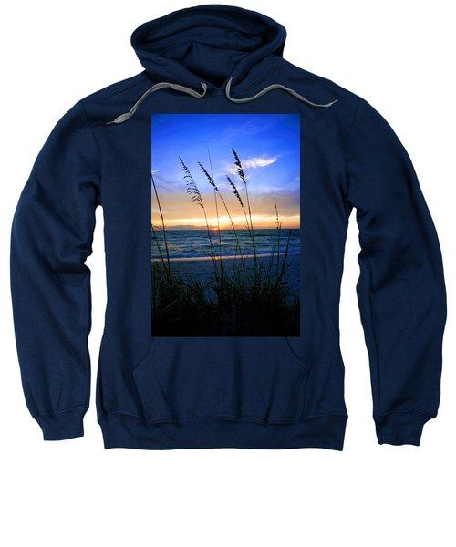 Sunset Thru The Sea Oats At Delnor Wiggins Sweatshirt