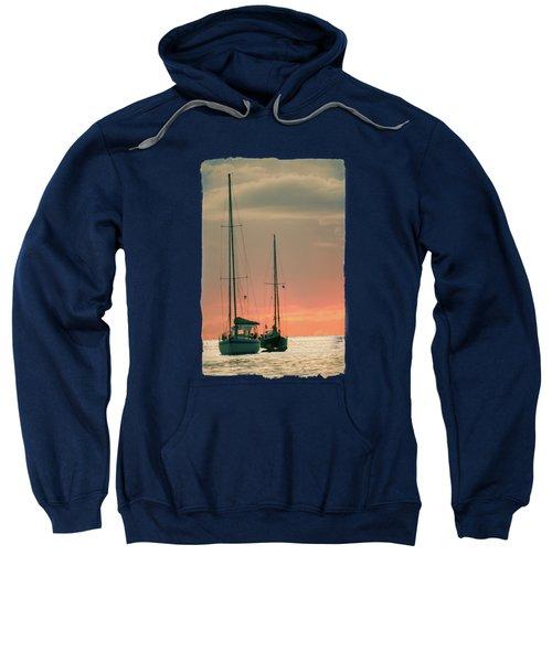 Sunset Yachts Sweatshirt by Konstantin Sevostyanov