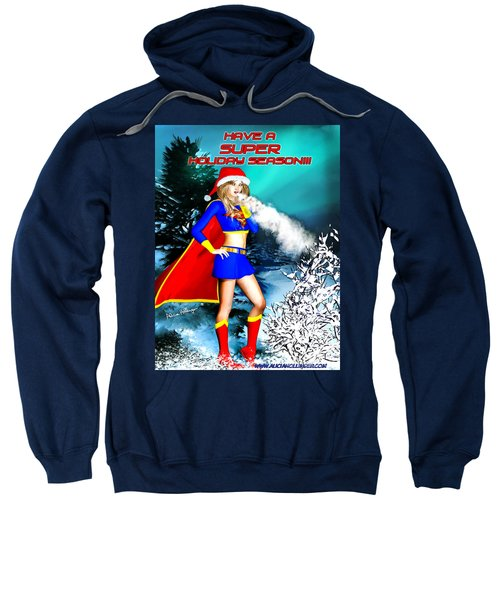Supergirl Holiday Greeting Card Sweatshirt