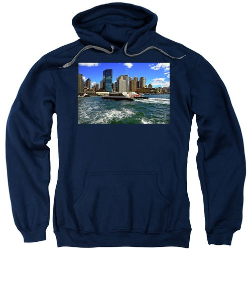 Sydney Skyline From Harbor By Kaye Menner Sweatshirt