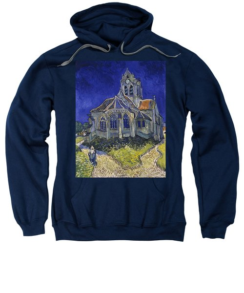 Sweatshirt featuring the painting The Church At Auvers by Van Gogh
