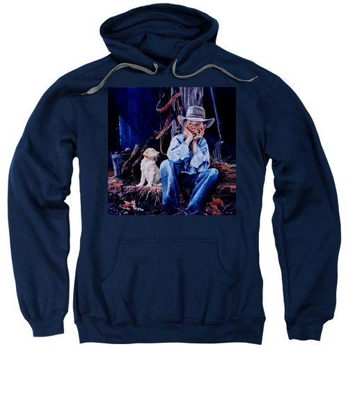 Sweatshirt featuring the painting The Dilemma by Hanne Lore Koehler