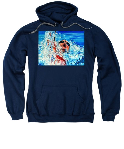 Sweatshirt featuring the painting The Dream Becomes Reality by Hanne Lore Koehler