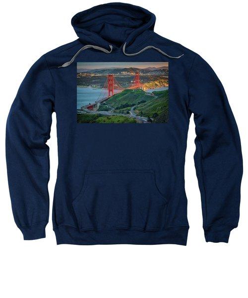 The Golden Gate At Sunset Sweatshirt