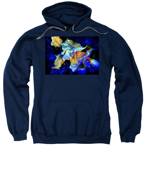 Sweatshirt featuring the painting The Heart Of My Garden by Hanne Lore Koehler