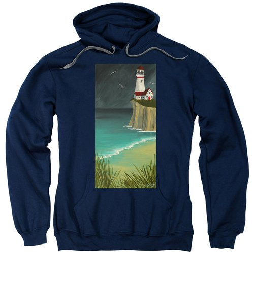 The Lighthouse On The Cliff Sweatshirt