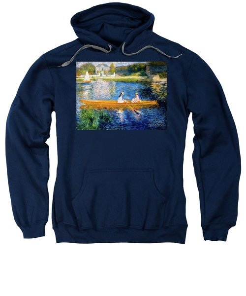 Renoir Boating On The Seine Sweatshirt