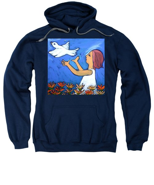 Sweatshirt featuring the painting To Fly Free by Winsome Gunning
