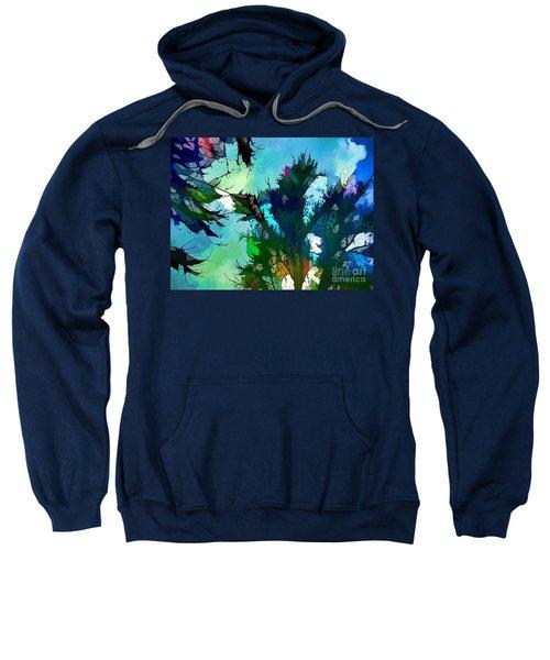 Tree Spirit Abstract Digital Painting Sweatshirt