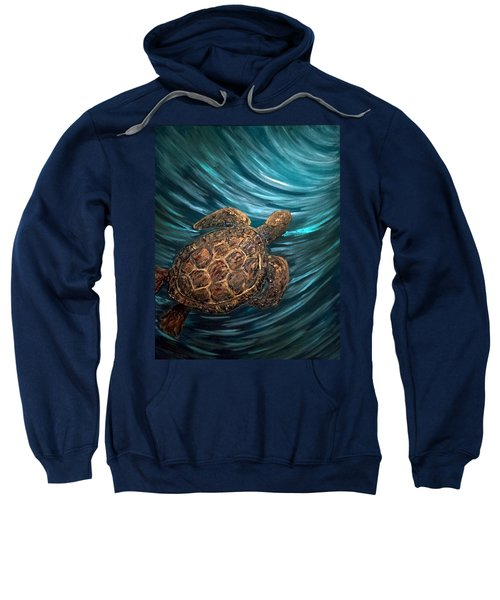 Turtle Wave Deep Blue Sweatshirt