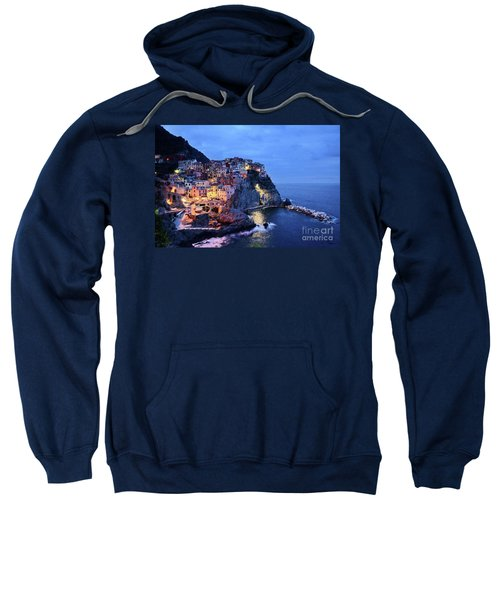 Tuscany Like Amalfi Cinque Terre Evening Lights Sweatshirt