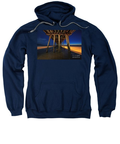 Twilight Under The Imperial Beach Pier San Diego California Sweatshirt