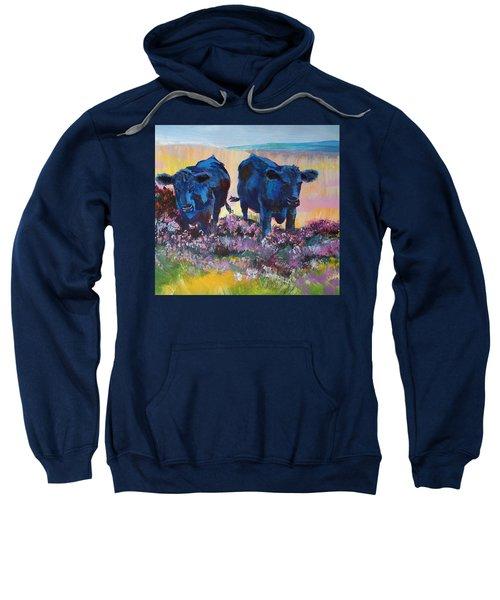 Two Black Cows On Dartmoor Sweatshirt