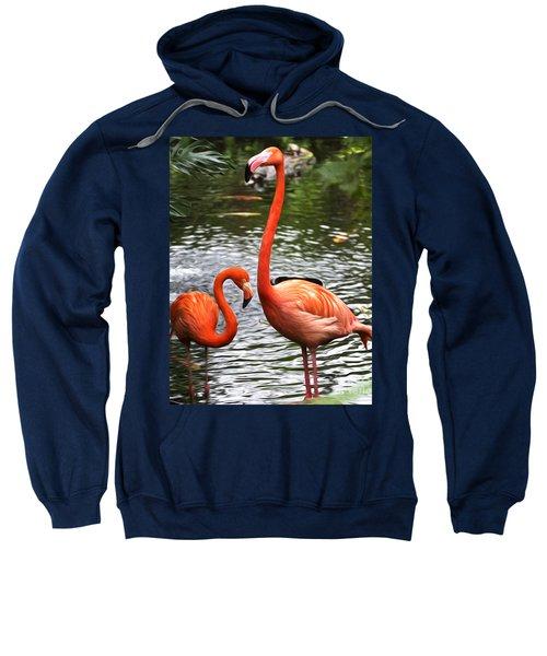 Two Pink Flamingo's Sweatshirt
