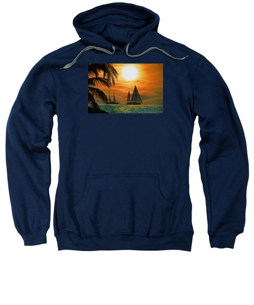 Two Ships Passing In The Night Sweatshirt