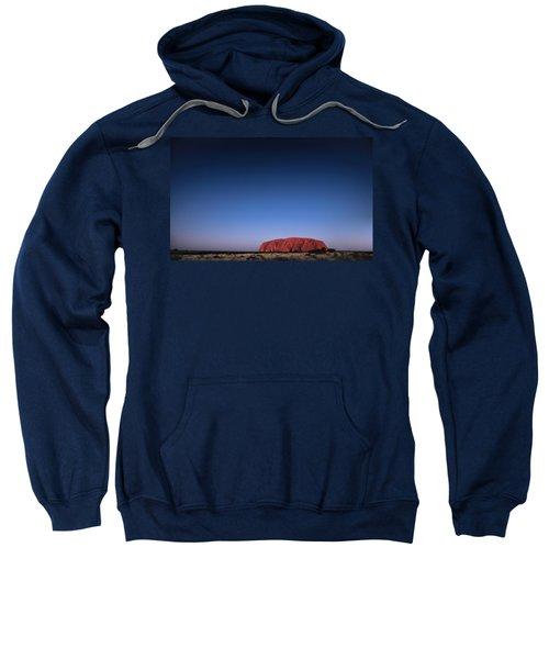 Sweatshirt featuring the photograph Uluru Starry Night by Chris Cousins