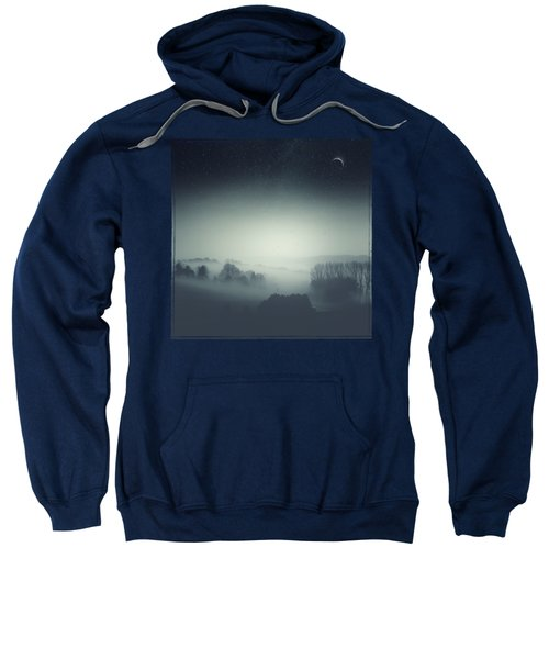 Underlying Tension - Monochrome Rural Landscape Sweatshirt