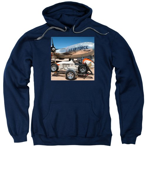 Us Air Force Airplane And Race Car  Sweatshirt