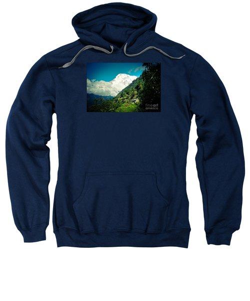 Valley Himalayas Mountain Nepal Sweatshirt